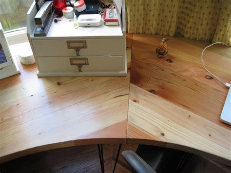 bay window desk as the saw blade turns bay window desk