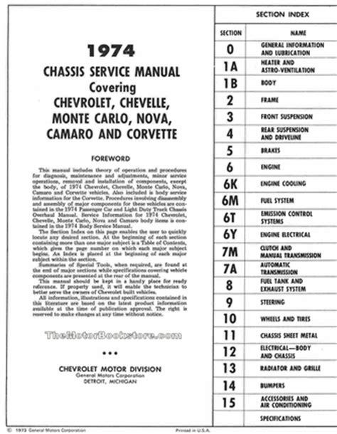 service manuals schematics 1973 chevrolet monte carlo parking system 1974 chevrolet service manual chevelle camaro more