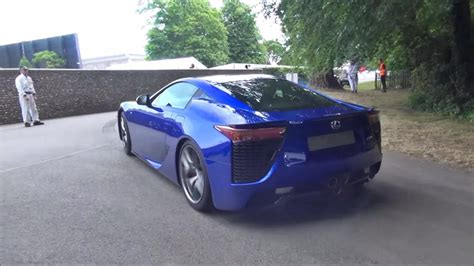 lexus lfa blue blue lexus lfa smoking tires rear view sssupersports
