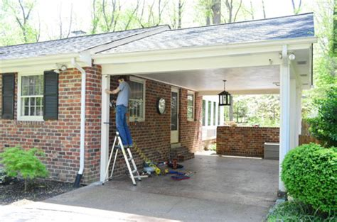 Rancher Style Homes building a garage or carport pergola young house love