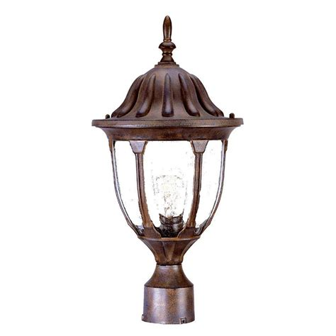 Acclaim Lighting Suffolk 1 Light Burled Walnut Outdoor Outdoor Light Fixtures Home Depot