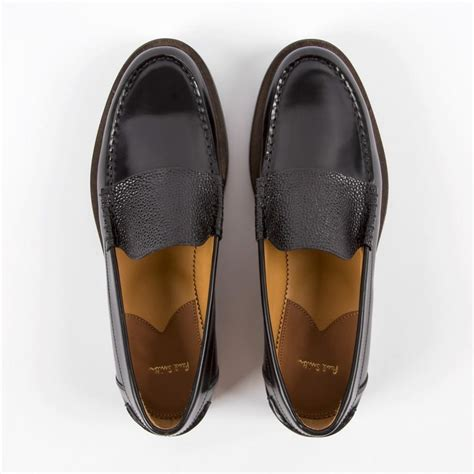paul smith loafers lyst paul smith logan leather loafers in black