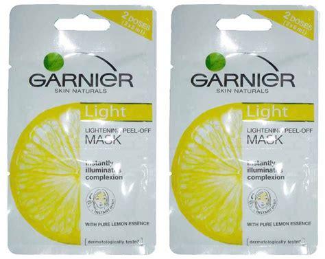 Masker Garnier Lemon garnier 2pc lightening peel mask lemon essence ebay