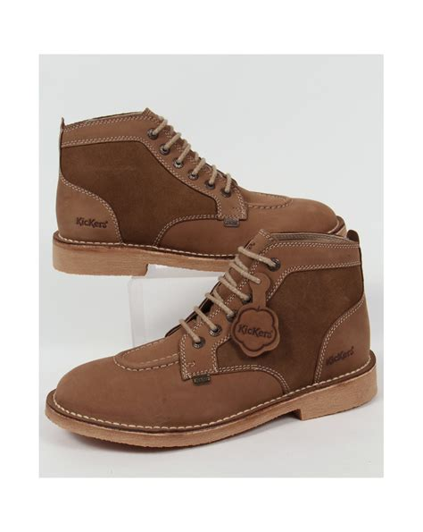 Boots Brown Kickers kickers legendary boots in suede brown legendary mens