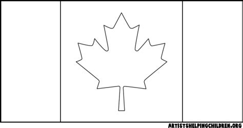 Coloring Page Template Category Page 1 Vinotique Com Canada Flag Template