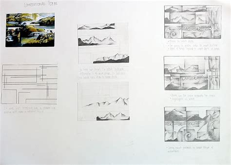 composition layout art 100 igcse art and design an exemplary coursework project