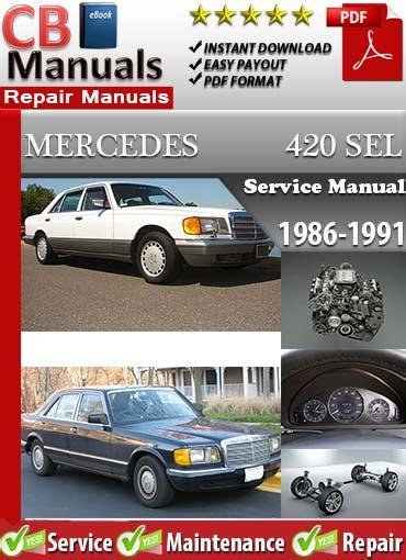 free download parts manuals 1986 mercedes benz e class electronic valve timing mercedes 420sel 1986 1991 service repair manual ebooks automotive