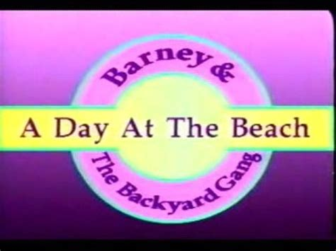 barney and the backyard gang a day at the beach barney the backyard gang a day at the beach custom