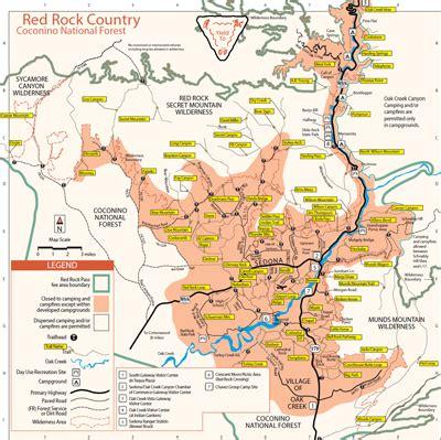 map of sedona arizona area hiking sedona hiking trails