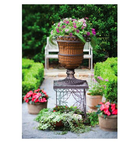 Wire Garden Planters by Country Chateau Wire Frame Outdoor Urn Planter
