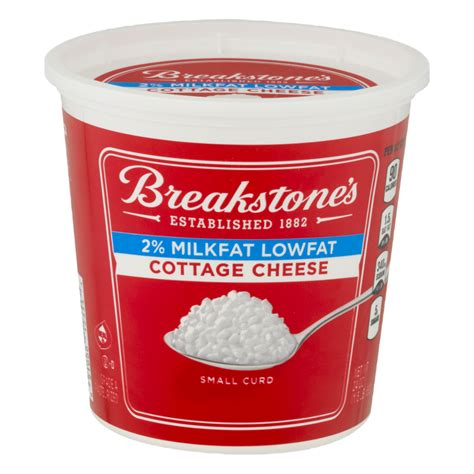 cottage cheese 2 breakstone s cottage cheese lowfat 2 milkfat small curd