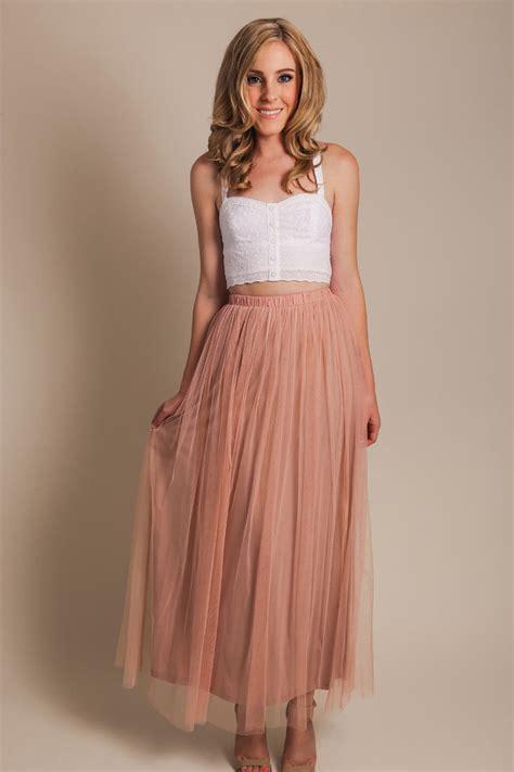 tulle maxi skirt morning lavender the