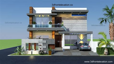 3d front elevation 10 marla houses design islamabad