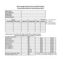 electrical sheet template best photos of electrician estimate template electrical