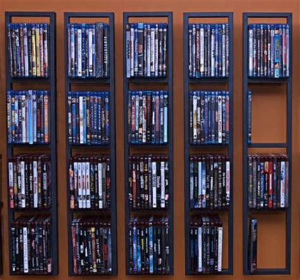 Wall Hanging Dvd Rack by Modern Wall Mount Cd Dvd Media Rack Storage Metal Shelf