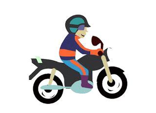 gambar animasi motor bergerak dp kartun sepeda motor
