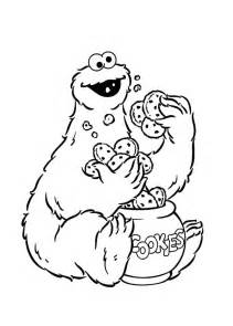 cookie monster eating cookies cookie jar coloring pages coloring sky