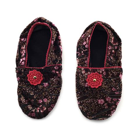 asian house slippers japanese floral house slippers