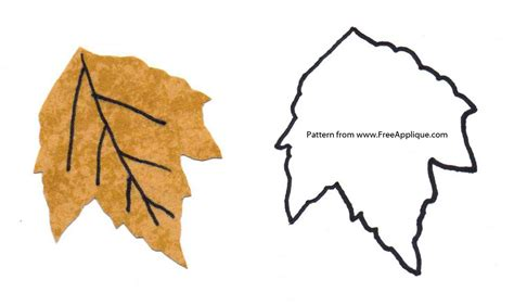 leaf applique printable leaf patterns for applique quilting crafts or