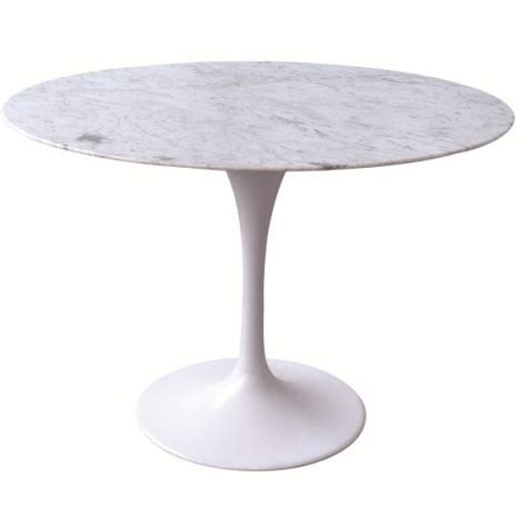 replica saarinen tulip marble dining table 120cm