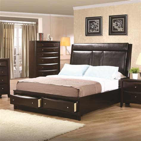 cing beds for bad backs california king leather storage platform 4