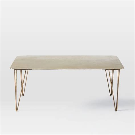 Hairpin Dining Table Brass Hairpin Coffee Table West Elm