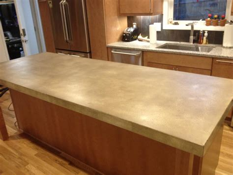 Kitchen Island With by Burco Surface Amp Decor Llc Concrete Countertops Atlanta