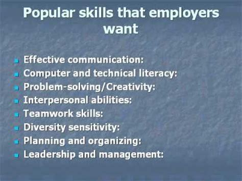 skills and personal qualities that employers want