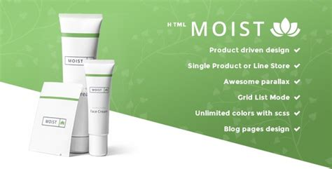 Moist Single Product E Commerce Website Template Single Product Ecommerce Website Template