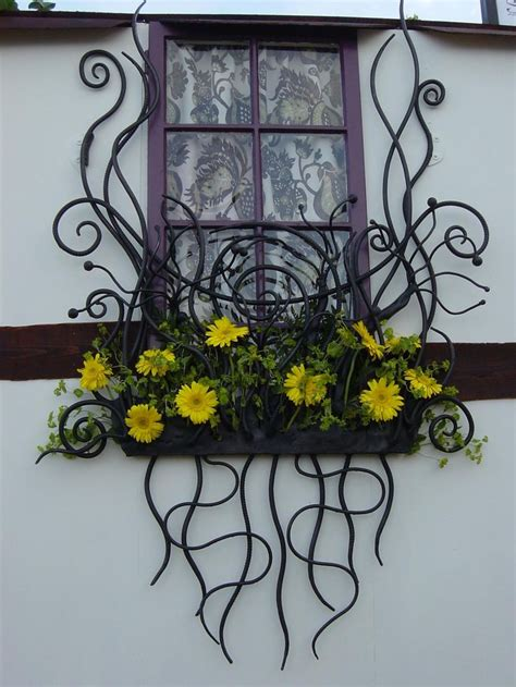 wrought iron window boxes cool windowbox bex simon blacksmith artist window