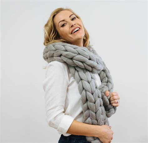 Chunky Knit Scarf chunky knit scarf by wool couture