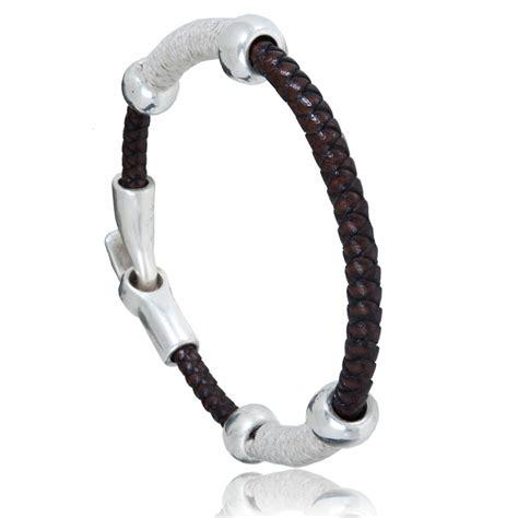 Bracelet Homme Mancora Cuir Marron   Oclaf