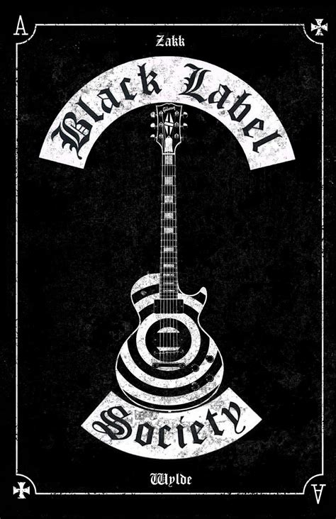 Black Label Society 5 Size M black label society poster les paul by mitchbaker13 on deviantart