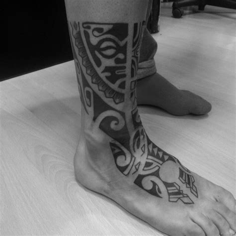 male foot tattoos tribal ankle and foot