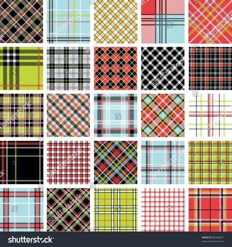 plaid pattern en espanol color plaid patterns set stock vector illustration