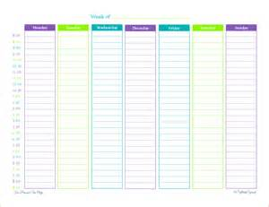 8 printable weekly calendar with hours memo formats