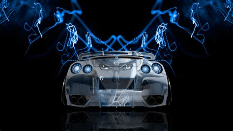 neon nissan nissan gtr r35 back anime aerography car 2014 el tony