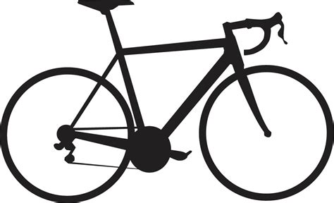 Road Bicycle Outline by Road Bike Clipart Clipart Suggest