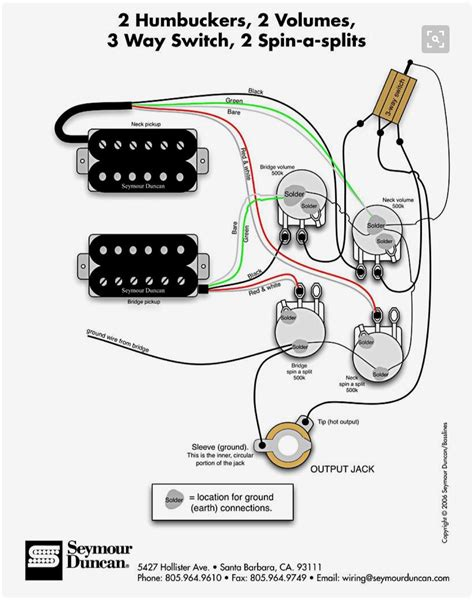 2 Humbuckers 2 Volumes 3 Wy Switch 2 Spin A Splits