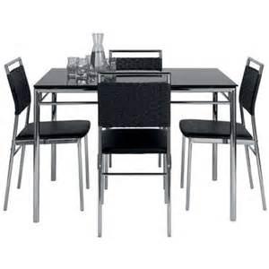ensemble table et de 4 chaises jade coloris noir vente