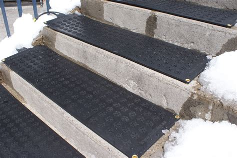 Heated Driveway Mat by Heated Flakes Premium Snow Melting Stair Mats