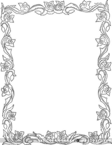 rose coloring pages border 40 stunning free clip art borders trickvilla