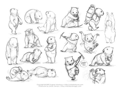 Sketches Poses by Illustrations Digger Remember Tunnel 17