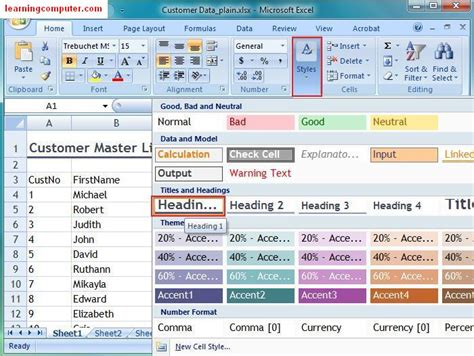 page layout microsoft excel 2003 microsoft excel tutorial page layout tab in ms excel