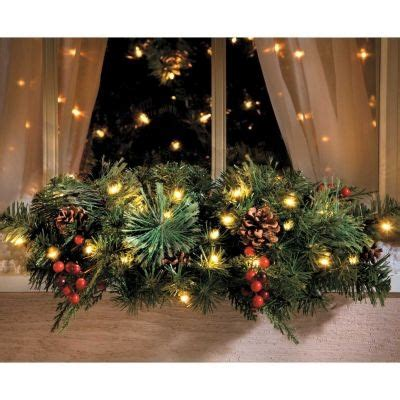 christmas pre lit window swag holiday ideas and decor