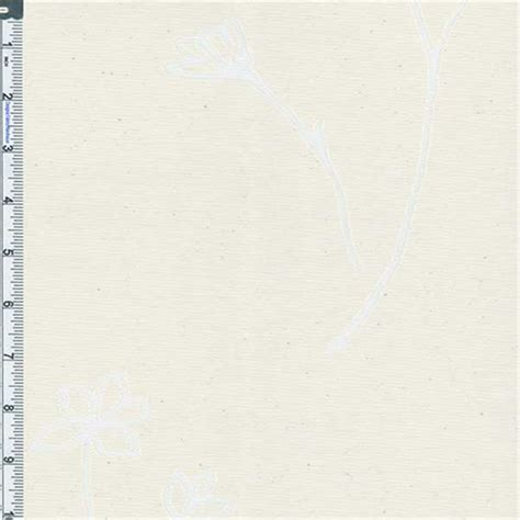 Poly Cotton Vanilla by Vanilla Floral Burnout Cotton Poly 55552 Discount Fabrics