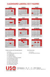 Calendario Laboral Comunidad De Madrid 2017 Calendario Laboral De Madrid 2017 Comunidad De Madrid