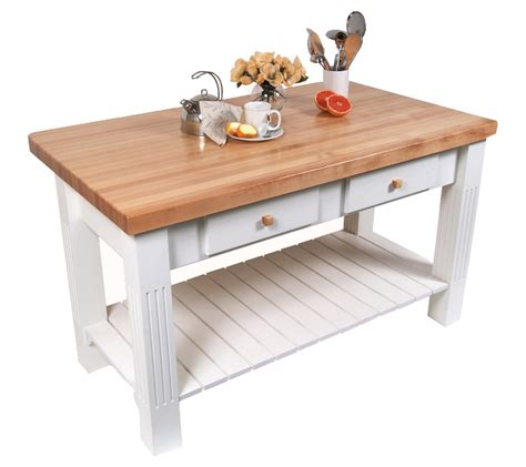 White Kitchen Island Table butcher block kitchen island john boos islands