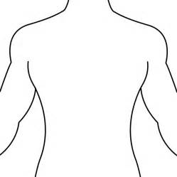 back to back drawing templates human outline printable cliparts co