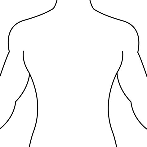 tattoo placement template human body outline printable cliparts co